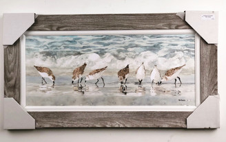 Sandpipers on Beach Painting FD46973 43x23""
