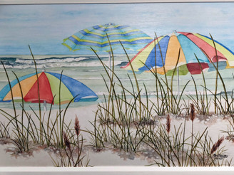 Threes Company Beach Painting FD53603 30x22""