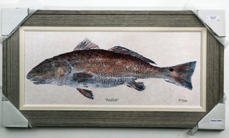 "Redfish Painting Wooden Frame FD46690 43""x23"""