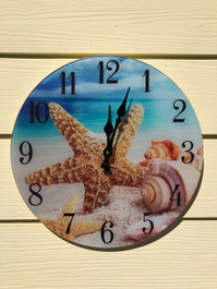 Glass Shell Clock Wall