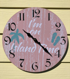 "On Island Time Wall Clock 13.5"""