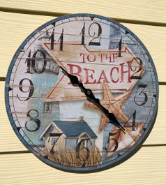 Beach Clock Wall 13.5""