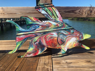 Hog Fish Metal Wall Art Recycled