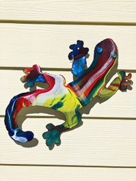Gecko Recycled Metal Wall Art