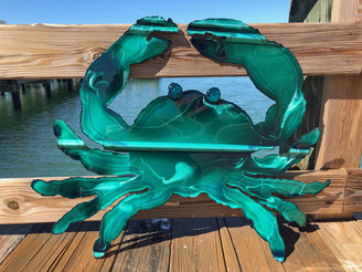 Metal Crab Wall Art Recycled