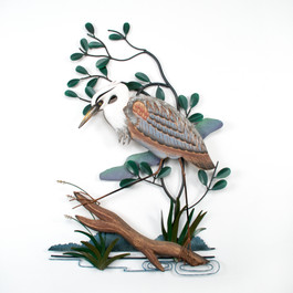 Hand Carved Blue Heron Wall Art CW275X