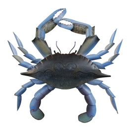 Blue Crab Medium - Metal Wall Art - CA799