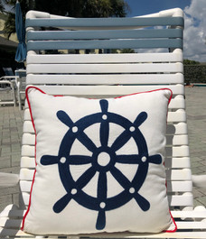 Wheel House Pillow Indoor Style 18 x 18