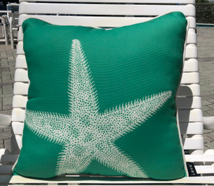 Kauai Starfish Pillow Outdoor Style 18 x 18