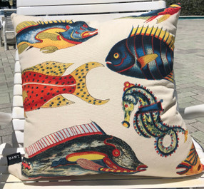 Island Fish Pillow Indoor Style 22 x 22""