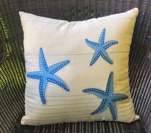 Blue Starfish Pillow Indoor Style