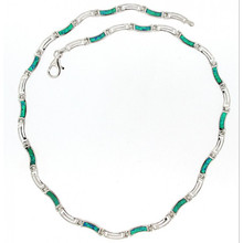 Opal and Silver 925 neclace 5621