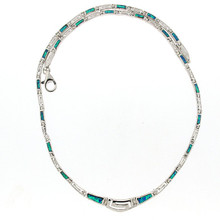 Opal and Silver 925 neclace 5617