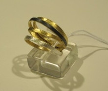 Sarina silver & gold plated ring SR91