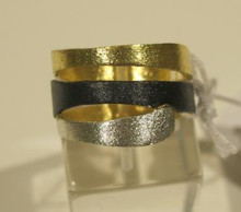 Sarina silver & gold plated ring SR74