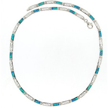Opal and Silver 925 neclace 5610