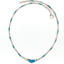 Opal and Silver 925 neclace 5613