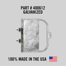 """Self-Closing Gate For Flat Bar or Wall Mount 26-32"""" (Galvanized)"""