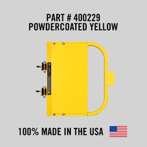 """Self-Closing Yellow Safety Gate For Flat Bar or Wall Mount 19-25"""" (Safety Yellow)"""