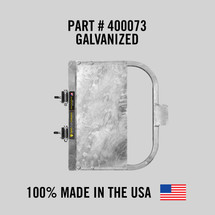 """Self-Closing Gate for Square or Round Post Mount 30-36"""" (Galvanized)"""