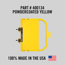 """Self-Closing Yellow Safety Gate for Square or Round Post Mount 16-22"""" (Safety Yellow)"""