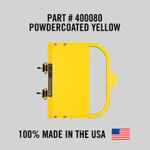 """Self-Closing Yellow Safety Gate for Square or Round Post Mount 30-36"""" (Safety Yellow)"""