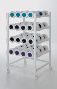 Rack pictured represents the Hand Buoys System 24. The System 24 has 4 racks, each holds 6 pairs of Hand Buoys.