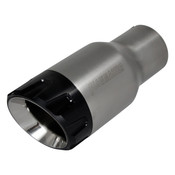 Flowmaster  Exhaust Tip - 3.00 Angled Brushed SS and Black Aluminum Fits 2.25