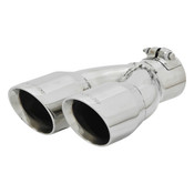 Flowmaster  Exhaust Tip - 3.00 in Dual Angle Cut Polished SS Fits 2.50 in.