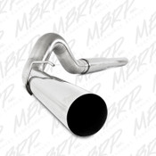 "MBRP 2003-2007 Ford Powerstroke 6.0L 5"" Cat Back, Single Side Exit Exhaust"