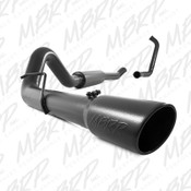 "MBRP 2003-2007 Ford Powerstroke 6.0 4"" Turbo Back (Stock Cat) Black Exhaust"