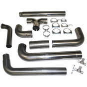 "MBRP 2003-2007 Ford Powerstroke 6.0L Turbo Back, Dual 5"" SMOKERS SS Stack Kit"