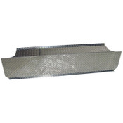 """MBRP 2003-2009 Dodge Ram Cummins Checker Plate Cover to Conceal """"T"""" Pipe in Bed"""
