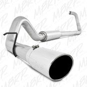 """MBRP 2003-2007 Ford Powerstroke 6.0L 4"""" Turbo Back, Single Off-Road Exhaust"""