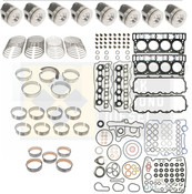 Ford 6.0 Powerstroke Engine Rebuild Kit with Pistons -18mm- Black Diamond 03 -05