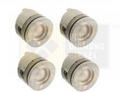 Black Diamond 04.5-05 Duramax 6.6 LLY .040 Oversize Right Side Pistons (4)