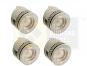 Black Diamond 06-07 Duramax 6.6 LBZ .040 Oversize Right Side Pistons (4)