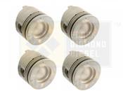 Black Diamond 07.5-10 Duramax 6.6 LMM .020 Oversize Right Side Pistons (4)