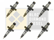 Black Diamond 04.5-07 Dodge 5.9 Cummins Replacement Set of Stock Injectors