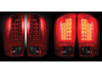 02-06 Dodge Ram LED Tail Lights Dark Red Smoked Lenses