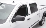 2014-2015  GMC  1500  Gas    , 2014 GMC SIERRA 1500 SLE Crew Cab, Slim line in-channel window visors, smoked, set of 4