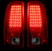 99-07 GMC Sierra LED Tail Lights Dark Red Smoked Lens