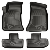11-15 CHALLENGER CUSTOM MOLDED FRONT/2ND SEAT WEATHERBEATER FLOOR LINERS BLACK