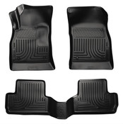12-15 VERANO CUSTOM MOLDED FRONT & 2ND SEAT FLOOR LINERS BLACK