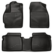 10-14 PRIUS CUSTOM MOLDED FRONT/2ND SEAT FLOOR LINERS BLACK