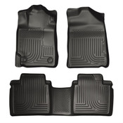13-15 AVALON ELECTRIC/GAS FITS STANDARD AND HYBRID MODELS FRONT/2ND SEAT LINERS WEATHERBEATER BLACK