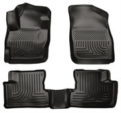 10-13 MAZDA3 CUSTOM MOLDED WEATHERBEATER FRONT & 2ND SEAT FLOOR LINERS BLACK