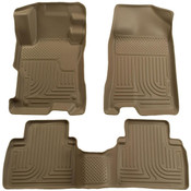 06-11 CIVIC 4-DOOR FRONT AND SECOND SEAT LINER TAN