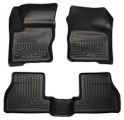 12-16 FOCUS 4/5 DOOR FRONT & 2ND SEAT FLOOR LINER BLACK