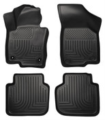 12-15 PASSAT CUSTOM MOLDED FRONT & 2ND SEAT FLOOR LINERS BLACK